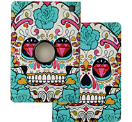 "Elonbo® Fashion Skull 360 Rotating PU Leather Full Body Protector Case Cover For Amazon Kindle Fire HDX 7""2013 Gen."
