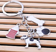 Unisex Alloy Casual Keychain Lovely Pet Key Chains