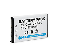 820mAh Cnp-20 Camera Battery Pack for  Casio Exilim Card EX-S880 EX-M1 EX-M20U EX-S500WE EX-S600D