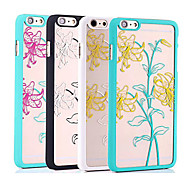 4.7 Inch Color Lily Relief PC Back Cover for iPhone 6 (Assorted Colors)