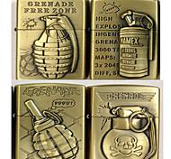 Grenade Series Kerosene Lighter Relief Style (Pattern Randomly Shipped)