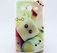 Marshmallow Pattern TPU Soft Back Cover for Samsung Galaxy Core 2 G355H/G3556D/G3558/G3559