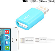 Yellowknife Mfi Certified Lightning To Micro USB Adaptor for iPhone 6 Plus/5/5s/6 Plus/iPad air/iPad mini  White