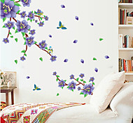 Natural Purple Plum Blossom PVC Wall Stickers Wall Art Decals
