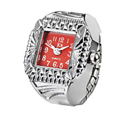 Creative Fashion Lady Girl Steel Round Elastic Quartz Finger Ring watch women