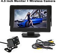 renepai® 4,3-Zoll-Monitor + 170 ° wireless hd Rückfahrkamera + High-Definition-Weitwinkel wasserdichte CMOS-Kamera