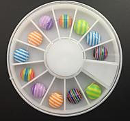 12PCS Acrylic Resin Roundness Set Nail Art Decoration