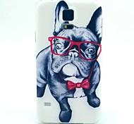 patrón gafas perro TPU suave para el mini samsung galaxy s5