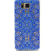 Blue Totem Pattern TPU Diamond Relief Back Cover Case for Samsung Galaxy Alpha G850 G8508 G850F
