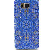 Para Funda Samsung Galaxy Diamantes Sintéticos / Diseños Funda Cubierta Trasera Funda Diseño de Encaje TPU Samsung Alpha