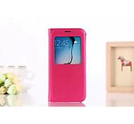 Smartphone-Holster ruhenden PU-Schutzhülle für Samsung-Galaxie s6 (pink)