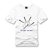Personalized T-shirts White Leisure Relaxed Design Cotton Short Sleeves