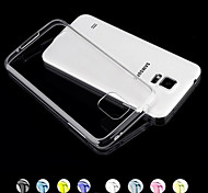 GYM Luxury Clear TPU Frame Acrylic Back Case for Samsung Galaxy S5 I9600(Assorted Color)