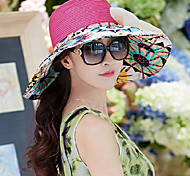 Women Cute/Party/Casual Summer Straw Straw Hat(Assorted Color)