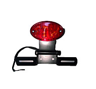 Motorcycle Tail License Plate Rear Light Round Red Lens DC 12V Universal