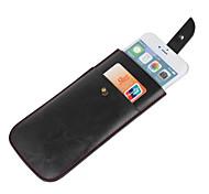 bolsa turtleback verticales funda de cuero caso para el iphone de apple 6 -4.7inch (negro)