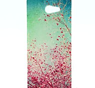 Cherry Blossoms Pattern Soft TPU Case for Sony Xperia M2