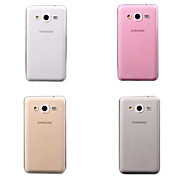 Super Flexible Clear Crystal Simple TPU Soft Back Cover Case for Samsung Galaxy Core 2 G3558/G3559(Assorted Colors)