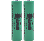 Power 3.7V 4500mAh 18650 Rechargeable Lithium Ion Battery(2pcs)