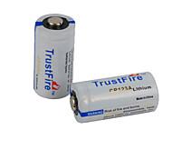 Batteria - Ioni di litio - TrustFire - CR123A - 1400mAH - ( mAh )