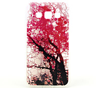 Pink Tree Pattern TPU Relief Back Cover Case for Samsung Galaxy A3