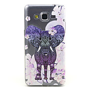 samsung galaxy gran primer G530 elefante púrpura compatible y flores con diamante diseño TPU caso de la contraportada