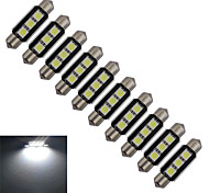 Luci da arredo 3 SMD 5050 Festoon 1 W 60-70lm LM Luce fredda 10 pezzi DC 12 V