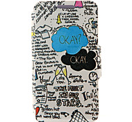 Kinston® the Fault In Our Stars Pattern Full Body PU Cover with Stand for Samsung Galaxy A3/A5/A7/A8