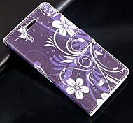 Purple orchid PU Leather Full Body Wallet Protective Case with Stand and Card Slot For Huawei Ascend G6