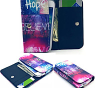 Believe Hope Love PU Leather Wallet style Full Body Case and Card Slot for Samsung Phone Size<12.3*6.5*2