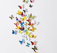 Стикеры наклейки для стены, 3D бабочки (38 шт. комплект поставки)