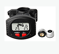 TPMS for Motorcycle Waterproof Chargable LCD,2 External Sensors,PSI/BAR Display Bracket,Tyre Pressure Monitoring System