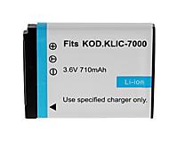 710mAh bateria da câmera para kodak KLIC-7000