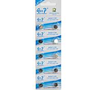 Button Batteria - LR (Alcalina) - LR726, LR396/196 - GD mAh ) - 1.5 - ( V ) - 10 - pc