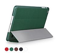 ggmm® ultra-mince de haute qualité cuir PU et boîtier pc complet du corps avec couverture pliable pour mini iPad (couleurs assorties)