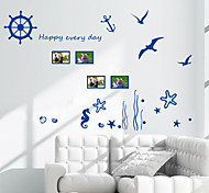 Wall Stickers Wall Decals, Ocean Coral Wrack PVC Wall Stickers