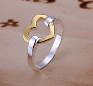 925 Silver Lovely Heart Shape Simple Ring