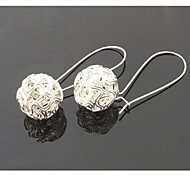Fashion Exquisite Silver Ball Earrings*1pair