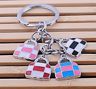 alliage de zinc sac à main en forme de porte-clés