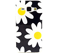 Chrysanthemum Pattern TPU Soft Case for Samsung Galaxy J1