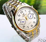 Men's Explosion Round Dial Steel Strap Fashion Business Quartz Watch  (Assorted Colors)