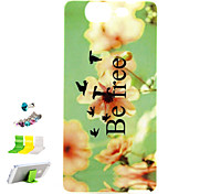 Yellow Flower Pattern TPU Material Protective Shell for Wiko HIGHWAY