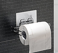 Magic Sticker Chromed Metal Toilet Paper Rack