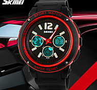 SKMEI® Men's Sporty Watch Analog-Digital Dual Time Zones Slide Rule/Calendar/Chronograph/Alarm