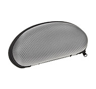 Protective Hard Zipper Case for Glasses - Silver + Black
