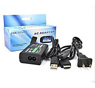 Power Supply AC Charger Adapter + USB Cable for Sony PS Vita