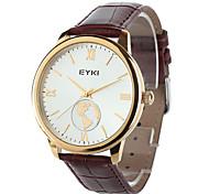 eyki eet8846ls Männermode Paar Weltkarte braun PU-Leder-Quarz-Armbanduhr (farbig sortiert)