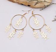 Fashion Alloy Little People Drop Earrings