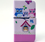 Owls outside the house pattern 360 Degree Rotation PU  Material  Full Body Case for Samsung Galaxy 6 EDGE