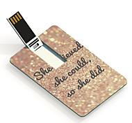 64gb ella cree diseño de la tarjeta USB Flash Drive